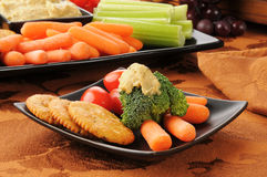 Healthy snack plate Stock Photography