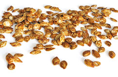 Healthy snack of pumpkin seeds roasted with oil and salt Royalty Free Stock Image