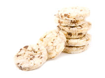 Healthy snack - rice cakes Stock Image