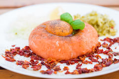 Healthy snack, salmon tartar Royalty Free Stock Image