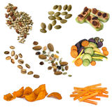 Healthy Snacking Food Collection Royalty Free Stock Images