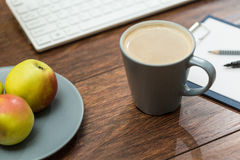 Healthy snacks and coffee Stock Image