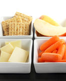 Healthy snacks. Tasty treats for a work break or afternoon snack for the kids Stock Image