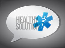 Healthy solution message illustration design Stock Photo