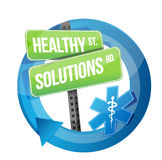 Healthy solution road symbol illustration Stock Photos