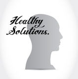 healthy solutions head sign illustration Stock Photography