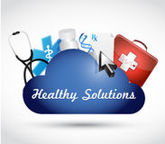 healthy solutions medical objects illustration Royalty Free Stock Photos
