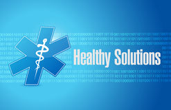 healthy solutions medical sign illustration Stock Photography