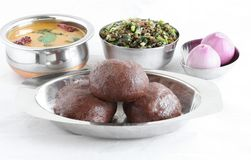 Healthy South Indian Food Ragi or Finger Millet Balls stock images