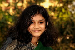 Healthy South Indian Girl Stock Photography