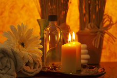 Healthy spa and oil Stock Photo