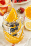 Healthy Spa Water with Fruit Stock Photography