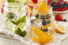 Healthy Spa Water with Fruit Royalty Free Stock Photos