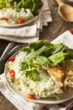 Healthy Spinach Egg White Omelette Stock Photography