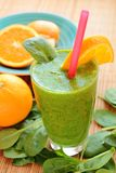 Healthy spinach smoothie Stock Photo