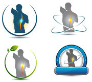 Healthy spine symbol. Can be used in chiropractic, sports, massage and other health care industry Stock Images