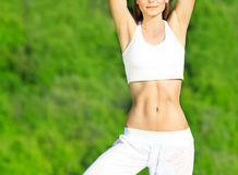 Healthy sport female body Stock Image