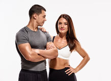 Healthy sporty couple Royalty Free Stock Photos