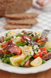 Healthy Spring salad with asparagus Royalty Free Stock Image
