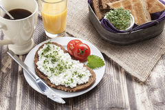 Healthy spring summer low fat breakfast Stock Image