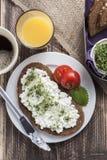 Healthy spring summer low fat breakfast Stock Photos