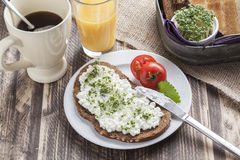 Healthy spring summer low fat breakfast Royalty Free Stock Images