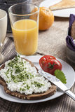 Healthy spring summer low fat breakfast Royalty Free Stock Image