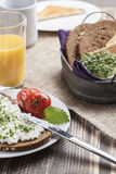 Healthy spring summer low fat breakfast Royalty Free Stock Photography