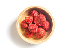 Healthy strawberry crispy  on white background Royalty Free Stock Photos