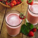 Strawberry milkshake Royalty Free Stock Photo