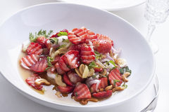 Healthy Strawberry salad Stock Images