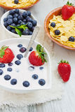 Healthy summer breakfast Royalty Free Stock Photo