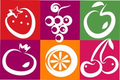 Healthy summer fruits Stock Photography