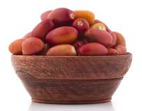 Red Dates. Healthy sweet fruits red dates Stock Photo