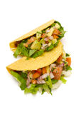 Healthy tacos on a white background Stock Image