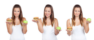 Healthy or tasty? Royalty Free Stock Image