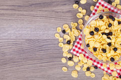 Healthy and tasty food on a wooden background Royalty Free Stock Photography