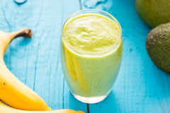 Healthy Tasty Green Avocado Shake or Smoothie Royalty Free Stock Photography