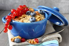 Healthy Tasty Homemade Oatmeal   Royalty Free Stock Photography