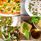 Healthy and tasty Italian food collage Stock Photo