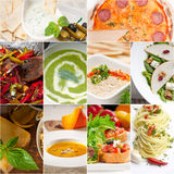 Healthy and tasty Italian food collage Royalty Free Stock Photos