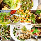 Healthy and tasty Italian food collage Stock Image