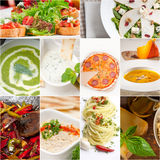 Healthy and tasty Italian food collage Royalty Free Stock Photography