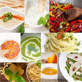 Healthy and tasty Italian food collage Royalty Free Stock Photo