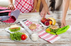 Healthy and tasty lunch box for child Stock Photo