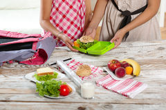 Healthy and tasty lunch box for child Royalty Free Stock Photo