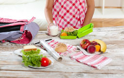 Healthy and tasty lunch box for child Stock Photos