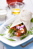 Healthy and tasty tortilla wrap sandwiches Royalty Free Stock Image