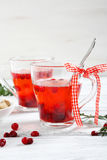 Healthy tea cranberry Royalty Free Stock Photo