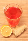 Healthy tea with ginger and lemon Royalty Free Stock Photos